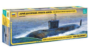 Byggmodell ubåt - Yuri Dolgorukiy (K-535) nuclear ballsitic submarine - 1:350 - Zv