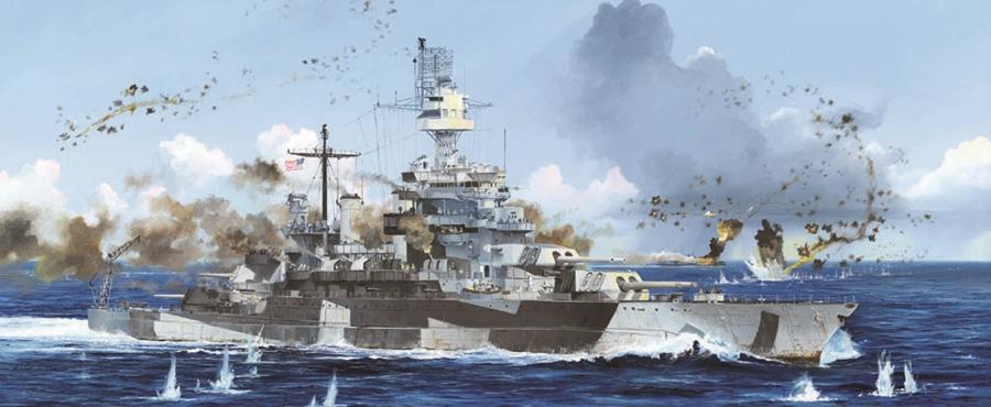 Byggmodell krigsfartyg - USS Colorado BB-45 1944 - 1:700 - TR