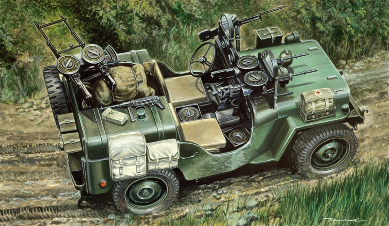 Byggmodell stridsfordon - Commando car - 1:35 - IT