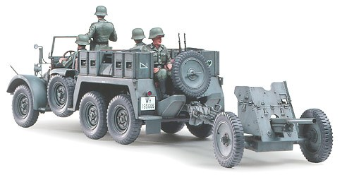 Byggmodell stridsfordon - Krupp towtruck with 37mm PAK - 1:35 - Tamiya