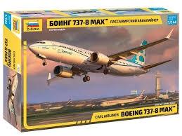 Byggmodell flygplan - Boeing 737-8 MAX - 1:144 - Zv