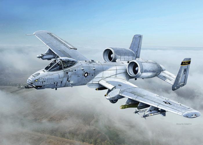 Byggmodell flygplan - A-10C Blacksnakes - 1:48 - IT