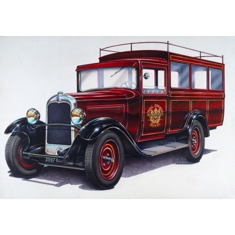 Byggmodell bil - Citroen C4 Splendid Hotel - 1:24 - Heller