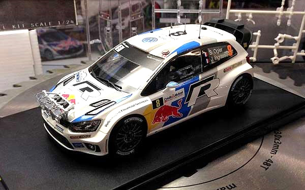 Byggmodell bil - Volkswagen Polo WRC - 1:24 - Bk
