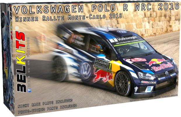 Byggmodell Bil - Volkswagen Polo R WRC 2016 - 1:24 - Bk