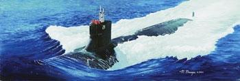 Byggmodell ubåt - USS SSN-21 Sea Wolf  - 1:144 - Tr