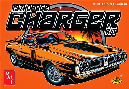 Byggmodell bil - 1971 Dodge Charger - 1:25 - AMT