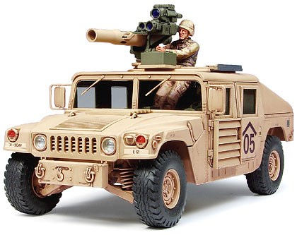 Stridsfordon byggmodell - Humvee M1046 tow missile - 1:35 - Tamyia