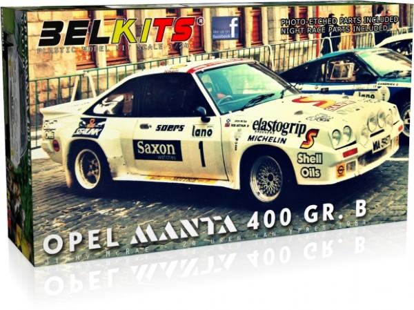 Bil byggmodell - Opel Manta 400 gr. B Jimmy McRae - 1:24 - Belkits