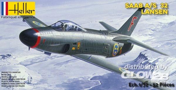 Byggmodell - SAAB 32 Lansen - 1:72 - Heller