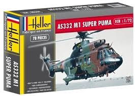 Byggmodell helikopter - AS 332 M1 Super Puma - 1:72 - Heller