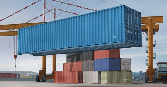 Byggmodell Container - 40ft Container - 1:35 - Trumpeter