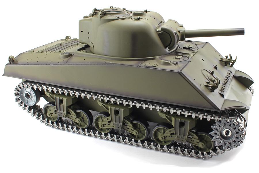 Radiostyrd stridsvagn - 1:16 Sherman V6 METALL Upg. - 2,4Ghz - s.airg. rök & ljud - RTR