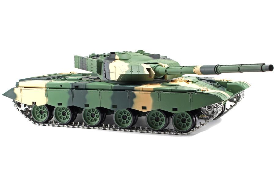 Radiostyrd stridsvagn - 1:16 - ZTZ Typ 99 V6 METALL Upg. - 2,4Ghz - s.airg. rök & ljud - RTR