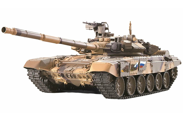 Radiostyrd stridsvagn - 1:16 - T90 V6 - 2,4Ghz - s.airg. rök & ljud - RTR