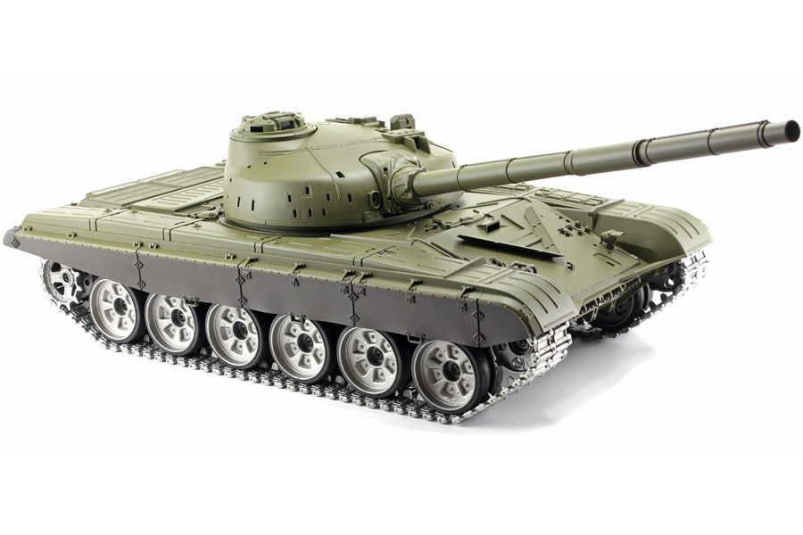 Radiostyrd stridsvagn - 1:16 - T72 V6 - 2,4Ghz - s.airg. rök & ljud - RTR