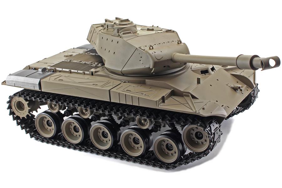 Radiostyrd stridsvagn - 1:16 - Snow Leopard (m26 pershing) V6 - 2,4Ghz - s.airg. rök & ljud - RTR