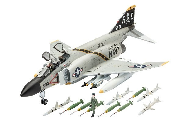 Byggmodell flygplan - F-4J Phantom II - 1:72 - Revell