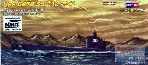 Byggmodell ubåt - USS GATO SS-212 1941 -1:700 - HobbyBoss