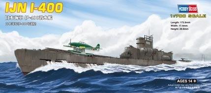 Byggmodell ubåt - Japanese I-400 Class - 1:700 - HobbyBoss
