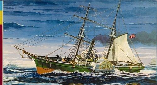 Byggmodell fartyg - Civil War Blockade Runner - 1:124 - Lindberg