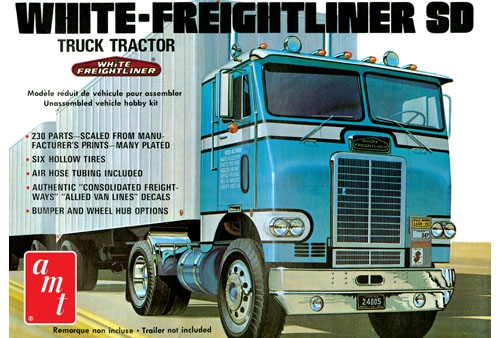 Byggmodell lastbil - White Freightliner Tractor - 1:25 - AMT