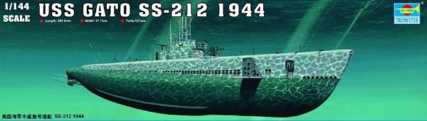 Byggmodell ubåt - USS GATO SS-212 1944 - 1:144 - Trumpeter