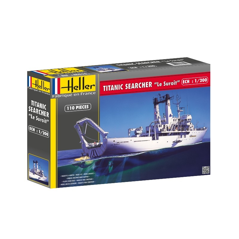 Byggmodell båt - Titanic Searcher - 1:200 - Heller