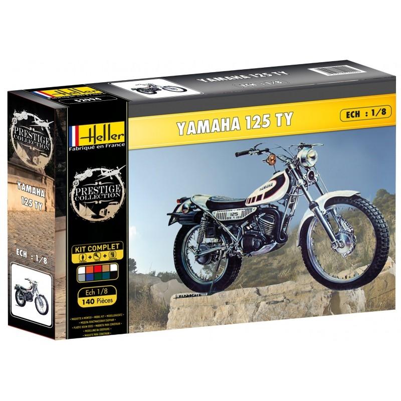 Byggmodell motorcykel - Yamaha TY 125 - 1:8 - Heller