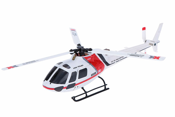 RC helikopter - AS350 XK123 BL - 2,4ghz - 6ch - RTF