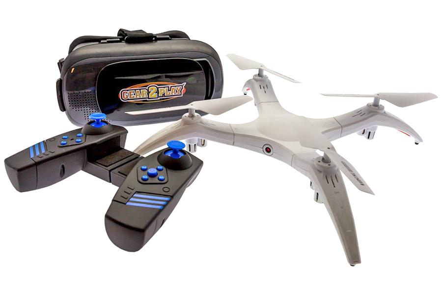 Radiostyrd Dron - FPV Detachable drönare - VR glasögon - RTF