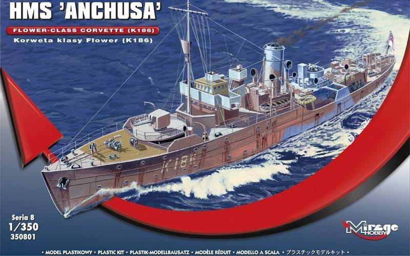 Byggmodell Krigsfartyg - HMS Anchusa - 1:350