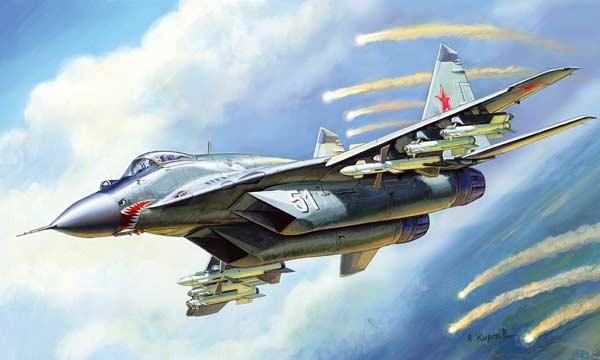 Byggmodell flygplan - MIG 29S (9-13) - 1:72 - Zvezda