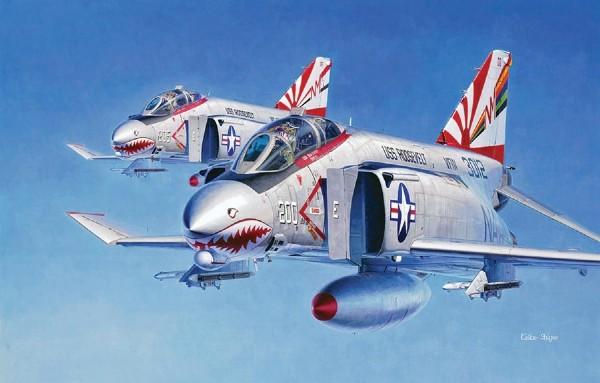 Byggmodell flygplan - F-4B/N Phantom II - 1:72 - Hasegawa