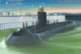 Byggmodell ubåt - USS Virginia SSN-774 - 1:350 - Hobbyboss