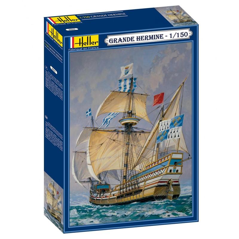 Byggmodell segelbåt - La Grande Hermine - 1:150 - Heller