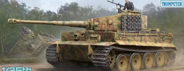 Byggmodell stridsvagn - Pz.Kpfw.VI Ausf.E Sd.Kfz.181 TigerI w/Zimmerit - 1:35 - Trumpeter