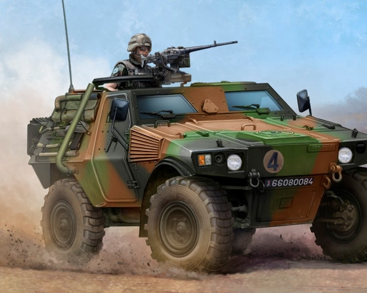 Byggmodell stridsfordan - French VBL Armour Car - 1:35 - Trumpeter