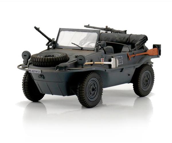 RC Stridsfordon - 1:16 - RC VW Schwimmwagen T166 Grey - Torro - 2,4Ghz - RTR