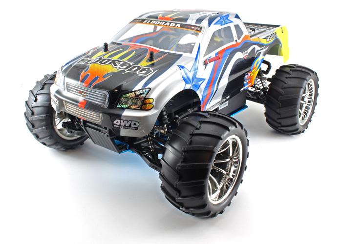 Metanol bil - 1:10 - Himoto Eldorada Blue - 4WD - 2,4Ghz - RTR