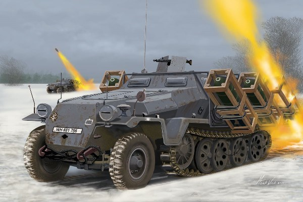 Byggmodell stridsfordon - Sd.Kfz. 251/1 Ausf. C Wurfr. 40 - 1:72 - Re