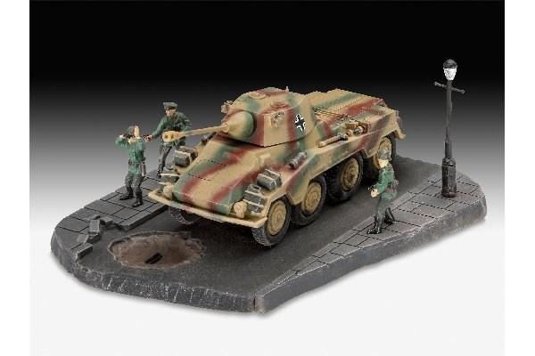 Byggmodell stridsfordon - Sd,Kfz, 234/2 Puma - 1:76 - Re
