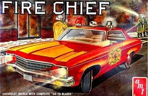 Byggmodell bil -  1970 Chevy Impala Fire Chief - 1:25 - AMT