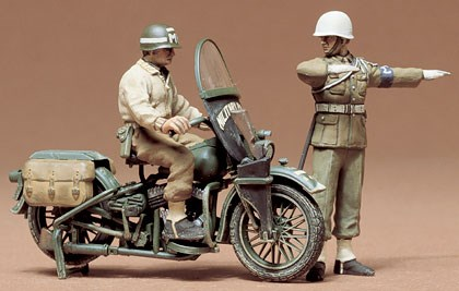 Byggmodell stridsfordon - U.S. Military police set - 1:35 - Tamiya