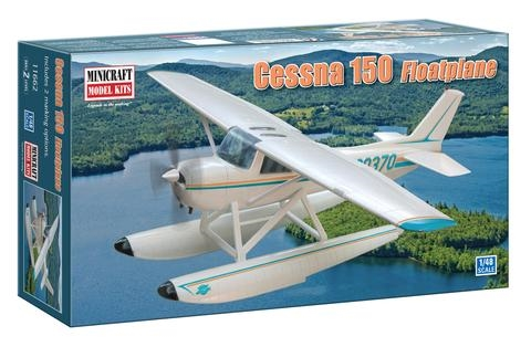 Byggmodell Sjöflygplan - Cessna 150 Float Plane - 1:48 - MiniCraft
