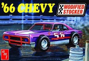 Byggmodell bil - 1966 CHEVY IMPALA MODIFIED STOCKER - 1:25 - AMT