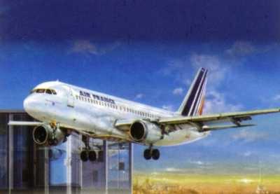 Byggmodell flygplan - A320 Air France - 1:125 - Heller