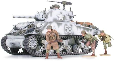 Byggmodell stridsvagn - Sherman M4A3 105mm Howitzer - 1:35 - Tamiya