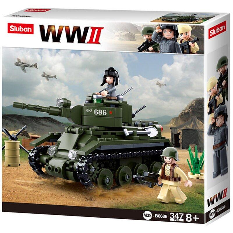 WWII - Allied Cavalry Tank - B0686 - Bygklossar - Sluban