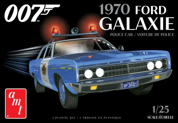 Byggmodell bil - 1970 Ford Galaxie Police Car - 1:25 - AMT